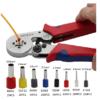 Yalku 0.25-10mm2 Self-adjusting Crimping Pliers With 1200 Wire Terminal Crimp